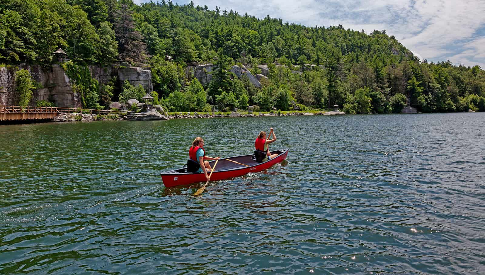 Canoeing - Outdoor Activities - Mohonk Lake