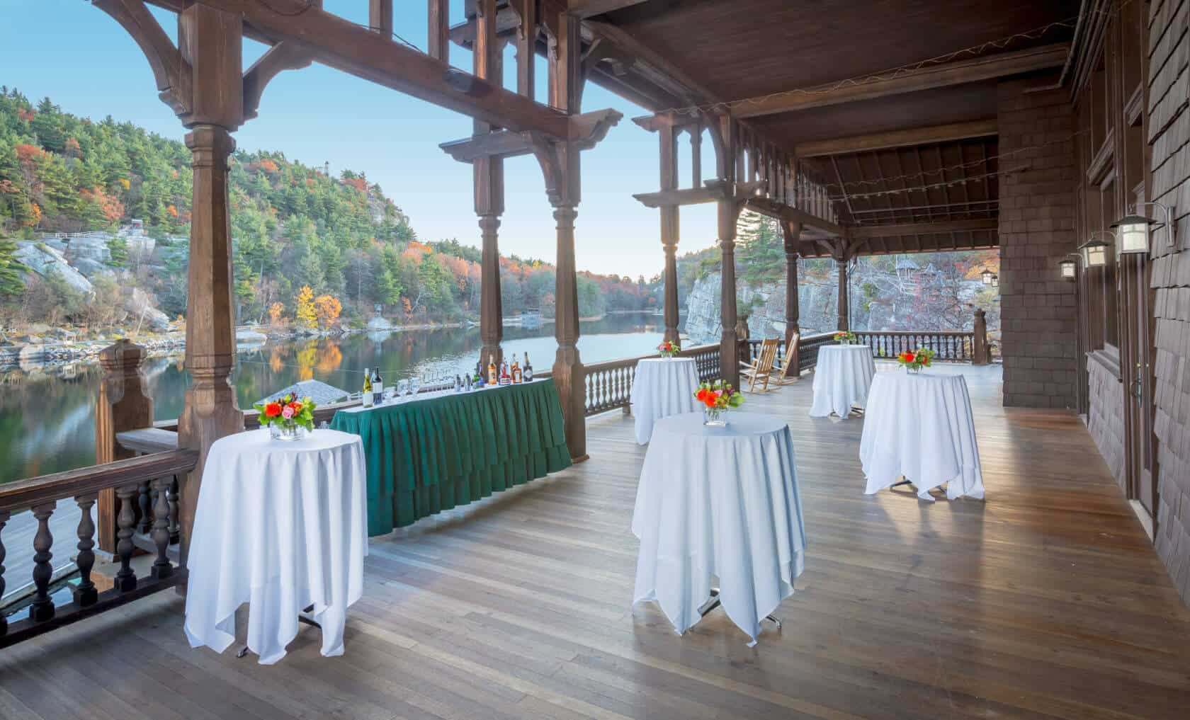 Patio Venue - Mohonk Lake Overlook - Hudson Valley Event