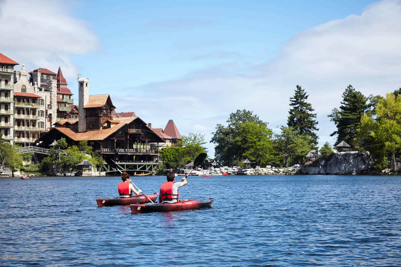 Kayaking on Lake Mohonk
