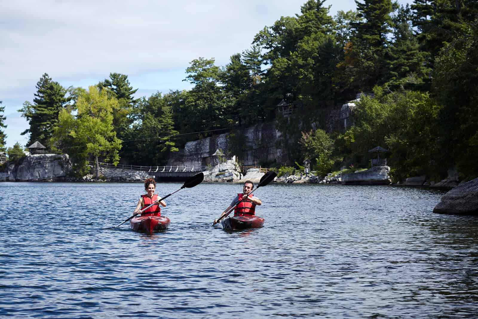 Couple Kayaking on Mohonk Lake