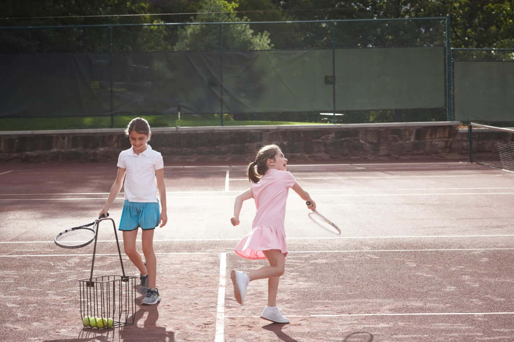 Teens Playing Tennis at Mohonk