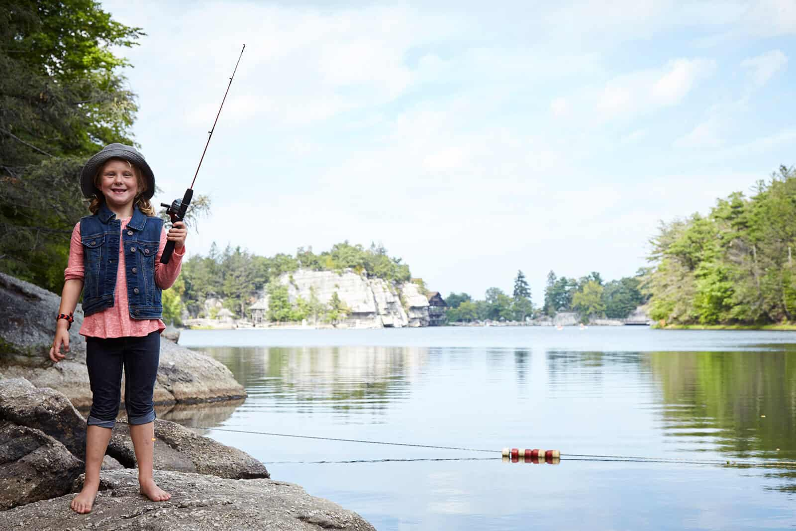 Fishing on the Mohonk Lake - Hudson Valley Getaway
