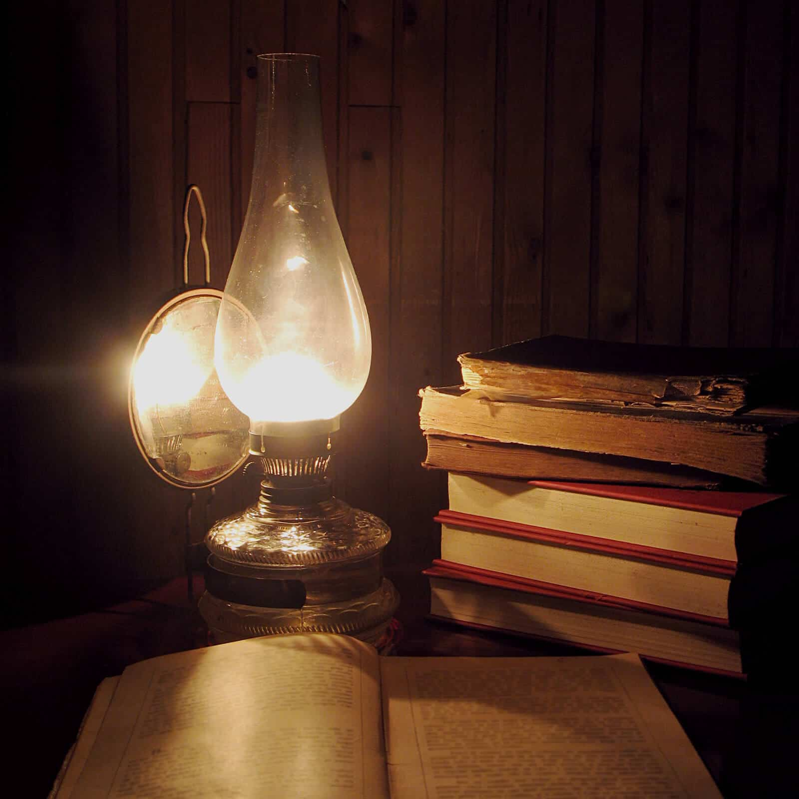 Books and Lantern