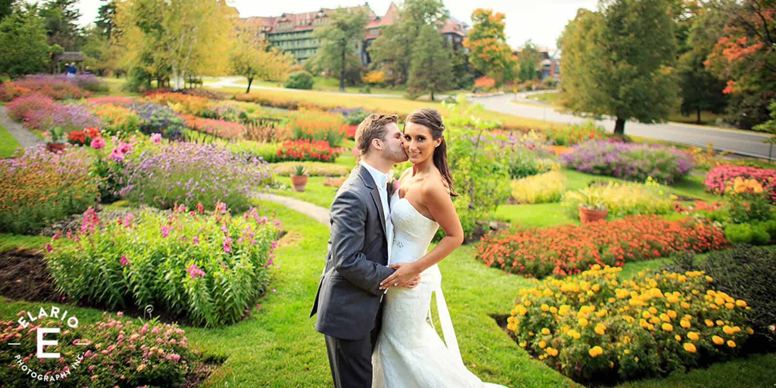 Wedding Photo at Formal Garden