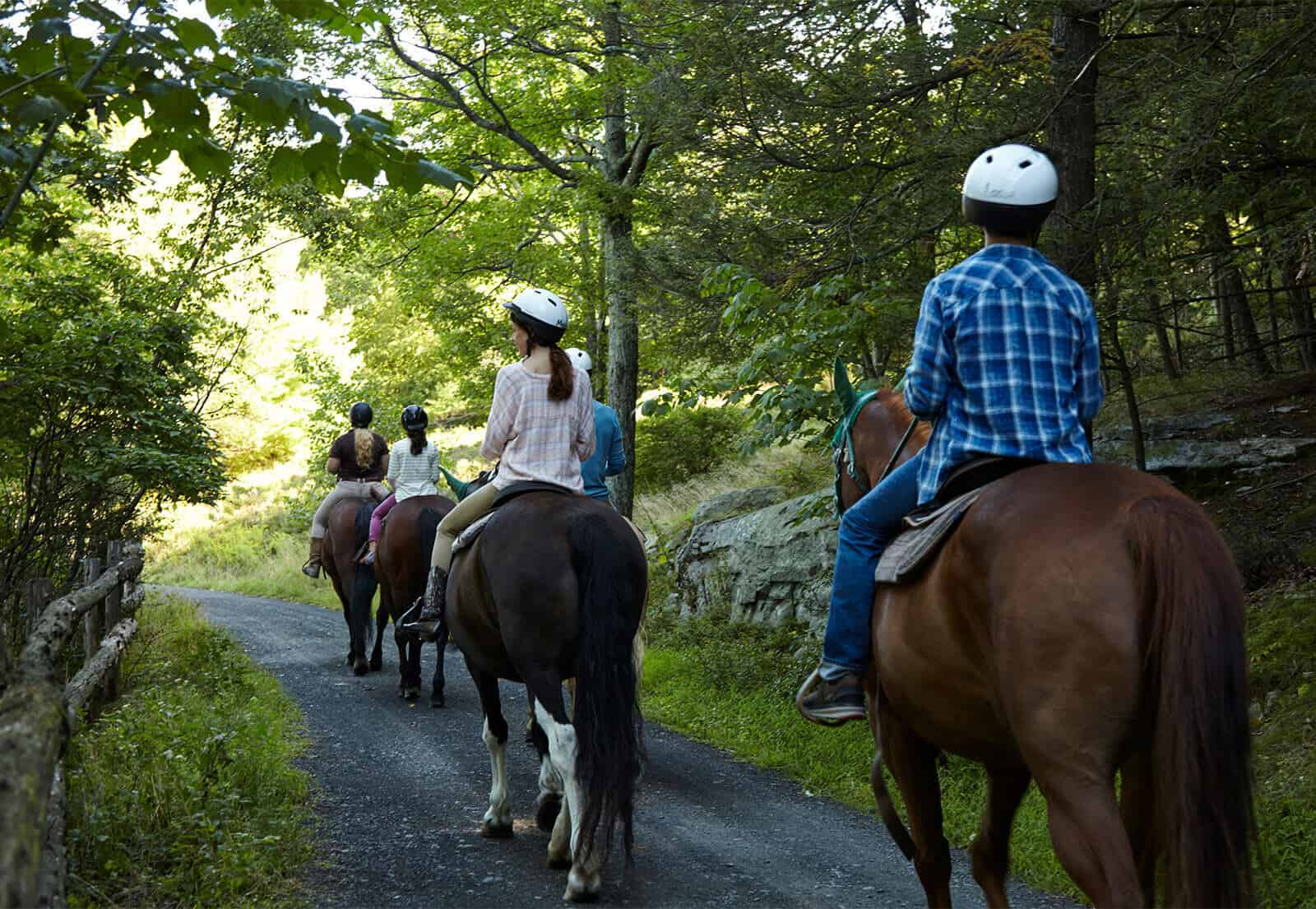 Horseback riding at Mohonk