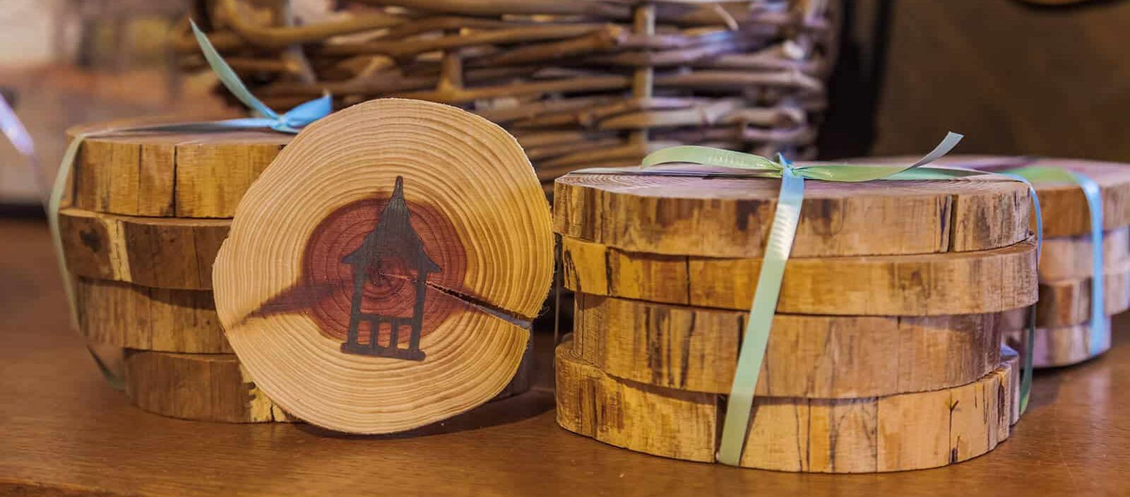 Mohonk Wooden Coasters