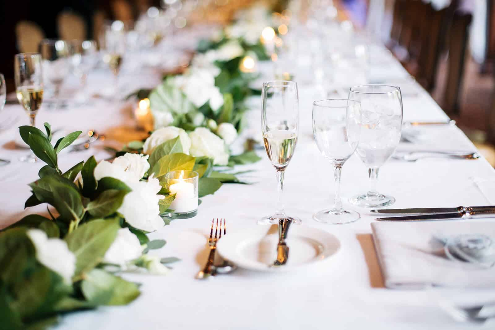 Table setting in event space