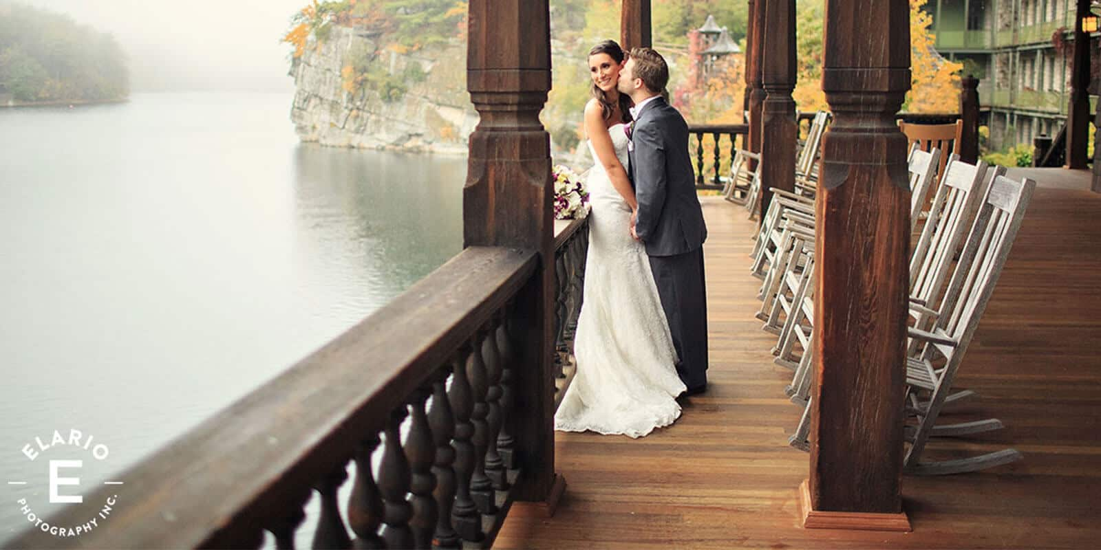 Bridal party photos at Mohonk