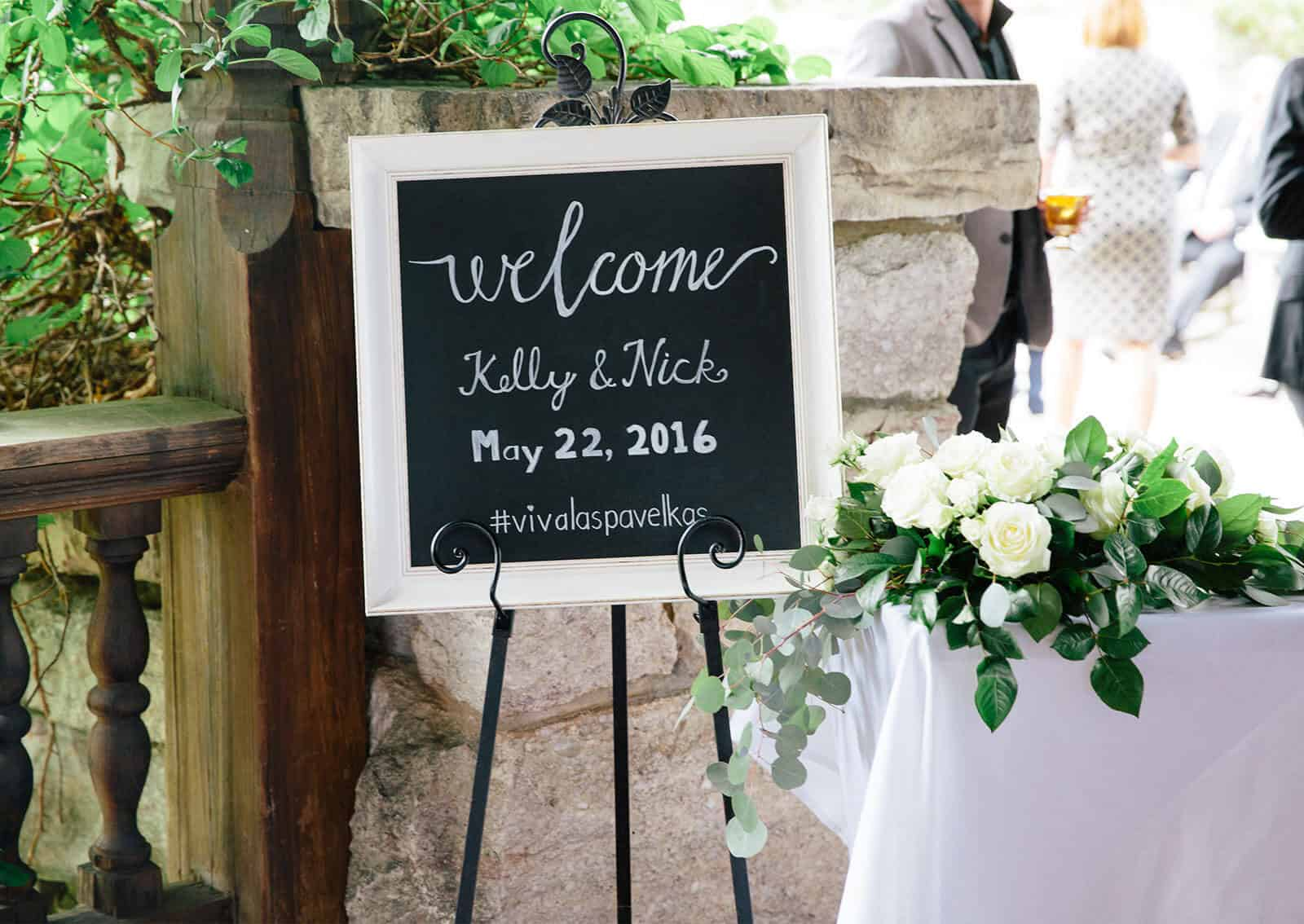 Kelly and Nick wedding featuring wedding decor