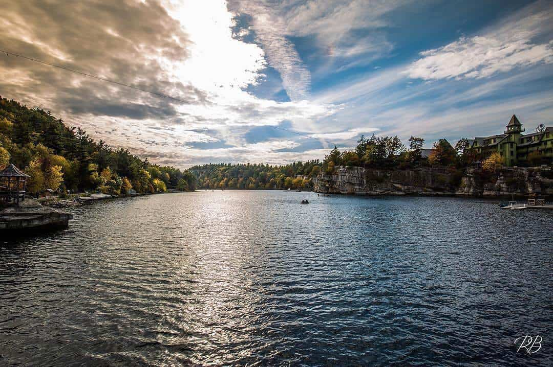 Sky over Lake Mohonk