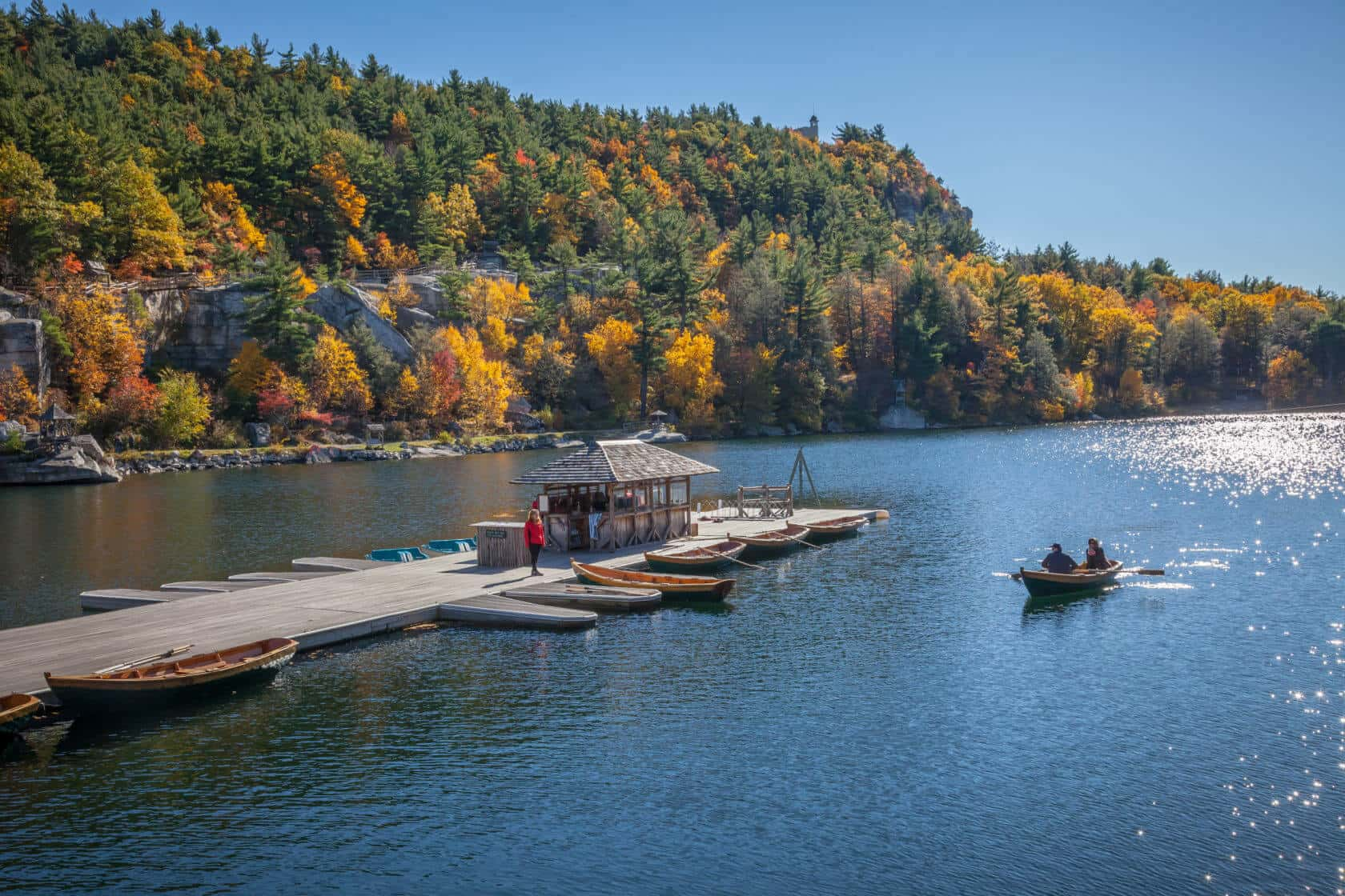 Fall Foliage at the Mohonk Boat Dock