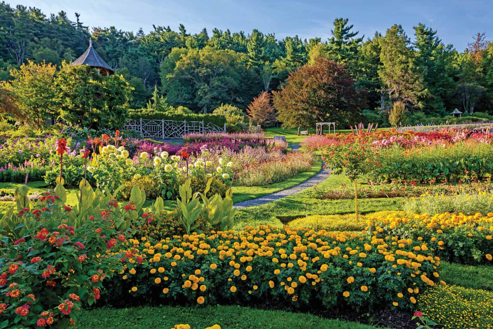 Mohonk Gardens in Summer