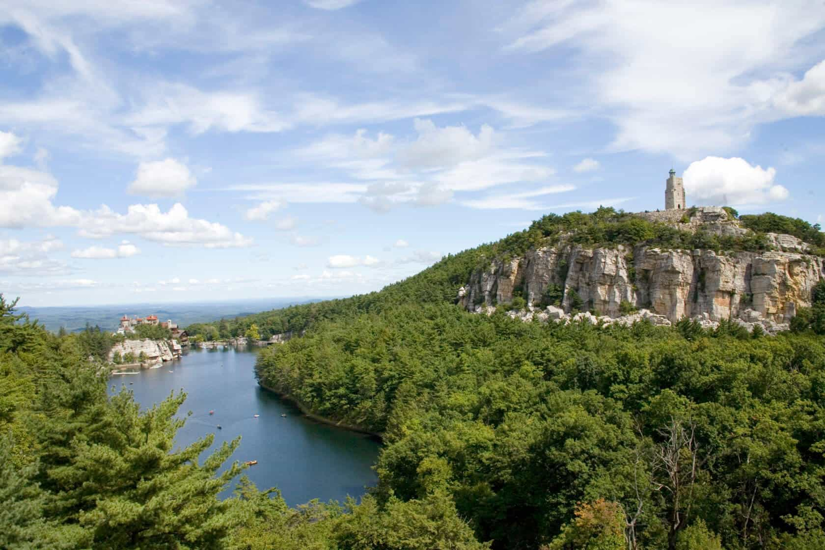 Mohonk View of Sky Top Tower from Eagle Cliff