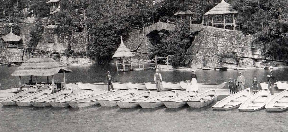 Then & Now: Boating on Lake Mohonk