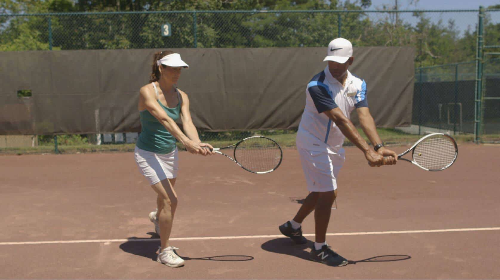 Tennis lesson at Mohonk Mountain House