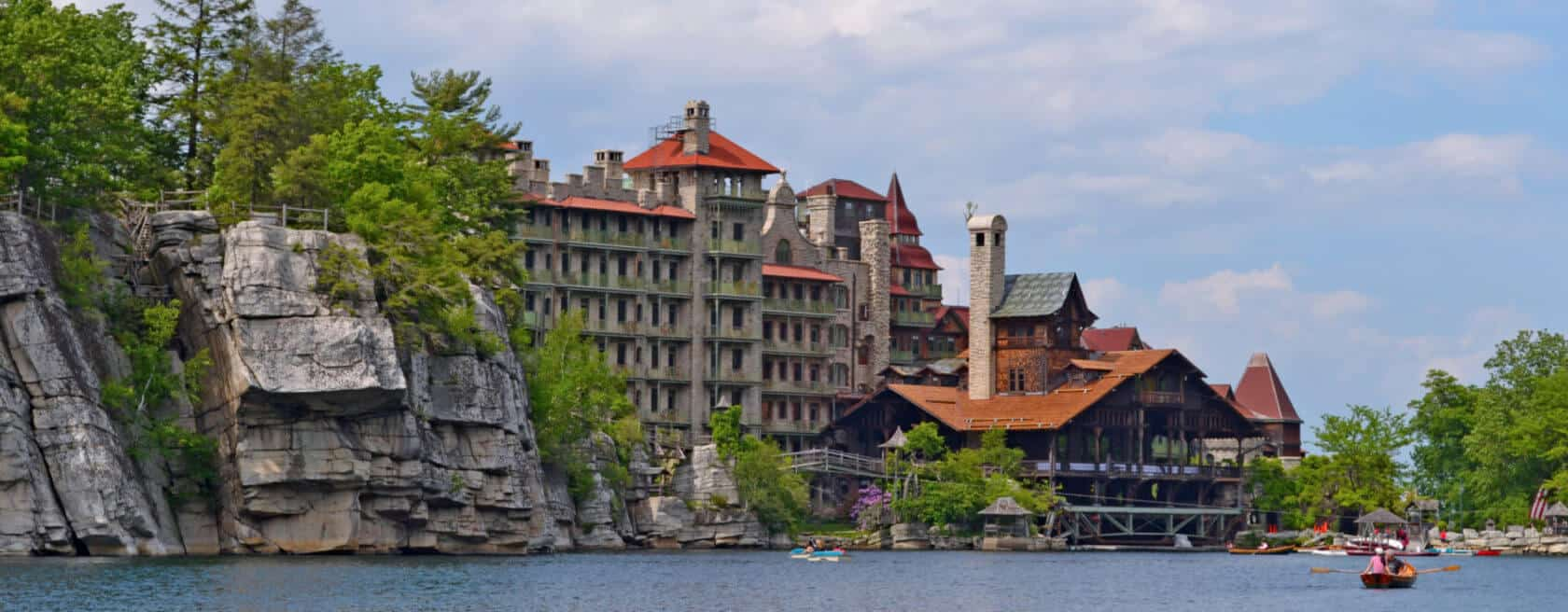 Back view of Mohonk hotel