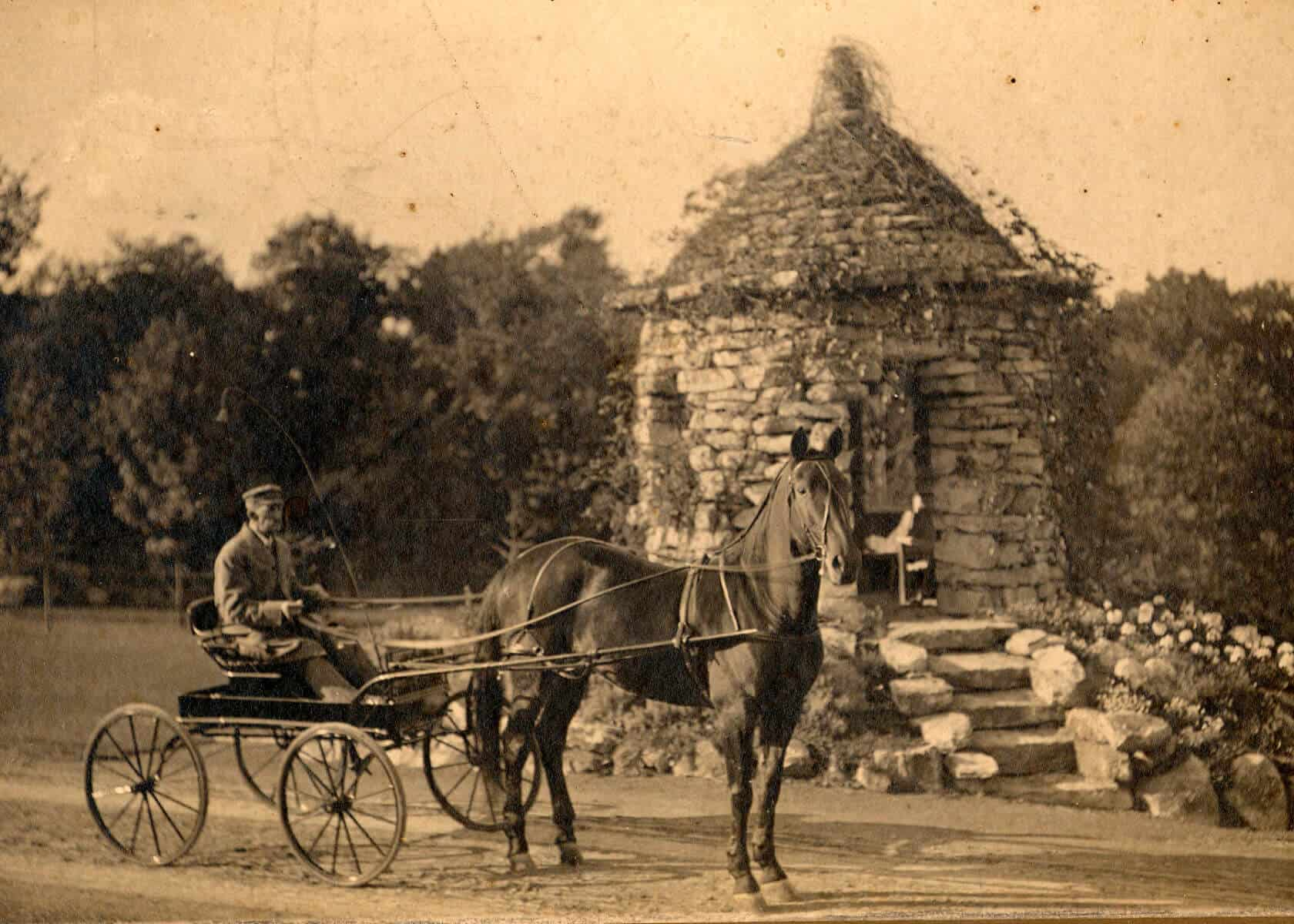 Carriage Ride at Stone Summerhouse ca. 1900