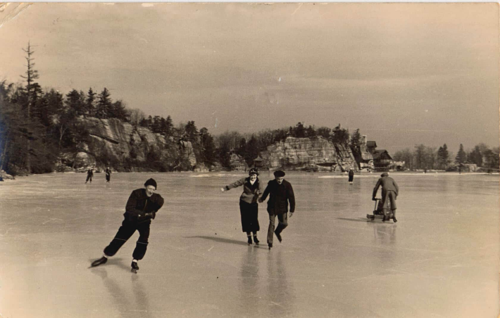 Ice Skating on the Lake in 1938