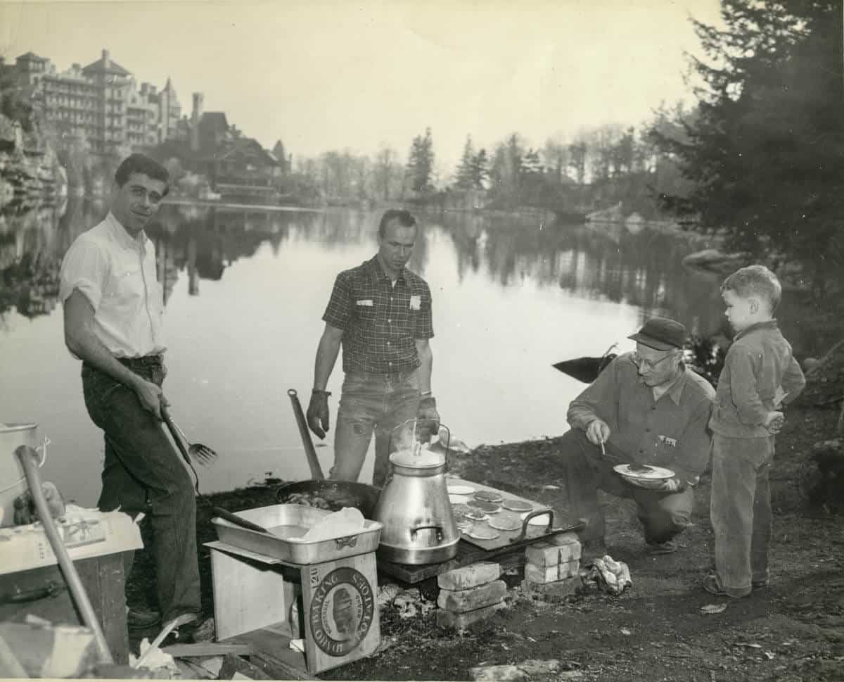 Breakfast cookout, c. 1950