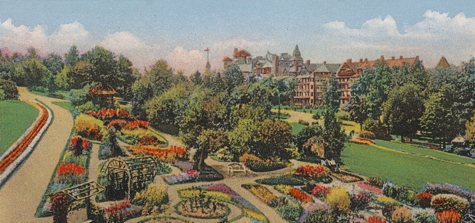 Post Card of Mohonk Garden
