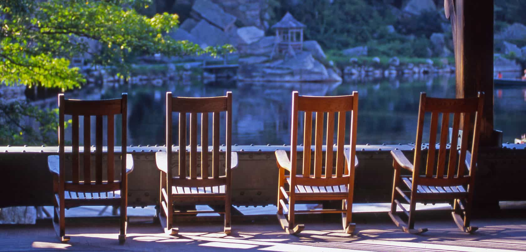 Mohonk Rocking Chairs on Lake Porch Cropped